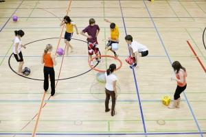 práctica deportiva escolar