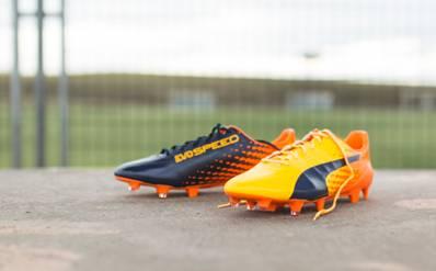 Puma aporta notas de color a sus botas evoSpeed y evoPower ... be28aa6eca82a