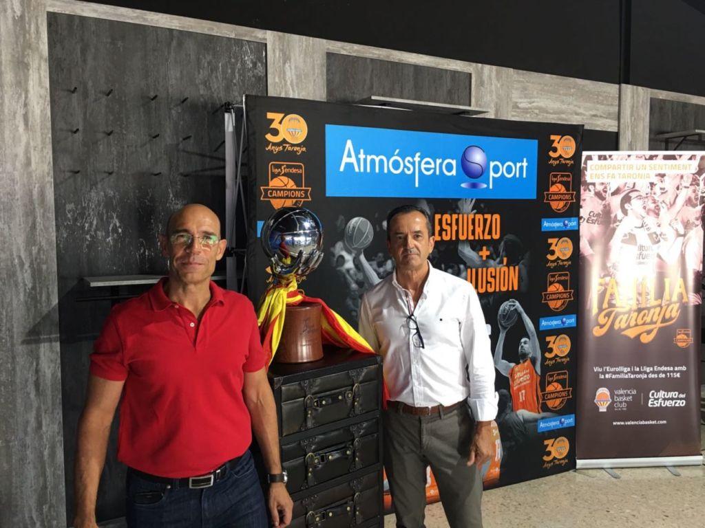 Juan Carlos Rubio y José María Villamala, directivos de Footgel Sport en las jornadas de compra de Atmósfera Sport