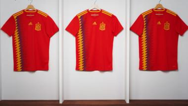 Adidas presenta la camiseta que España lucirá en el Mundial de Rusia 2018