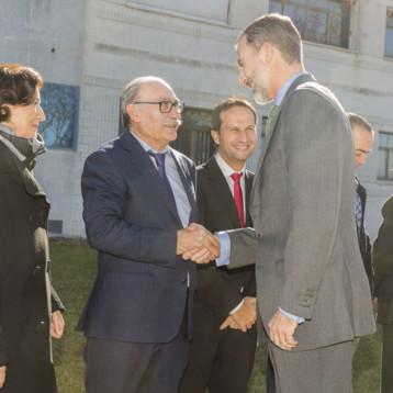 Joma recibe a los Reyes de España en su sede en Portillo