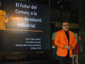 Xavier Sala i Martín, profesor de la universidad de Columbia, interviene en una sesión formativa en la Setmana del Comerç de Catalunya