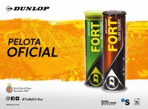 Dunlop es bola oficial en los principales torneos de tierra batida