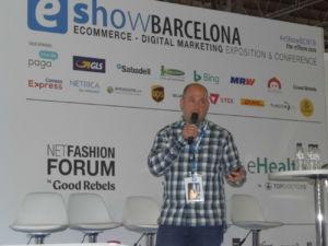 Jordi Cumelles, cofundador de Vèrtic, tienda especializada en outdoor y escalada, en eShow