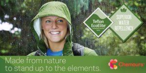 Teflon Ecoelite es un nuevo tejido hidrorrepelente y sostenible