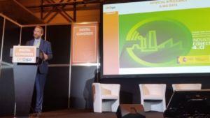 Fernando Valdés en su presentación en Digital Congress, en Shop