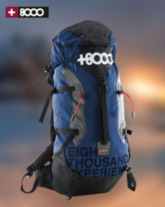 mochila +8000 para actividades de montaña