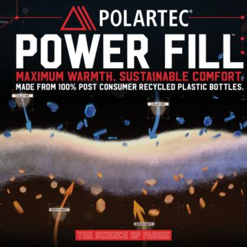 Polartec ya fabrica Power Fill íntegramente a partir de materiales reciclados