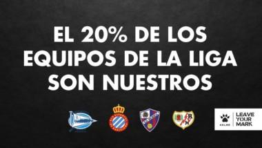 Kelme adquiere gran protagonismo  en la Liga Santander