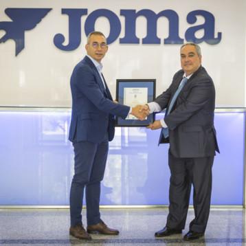 Joma recibe el certificado de calidad ISO 9001