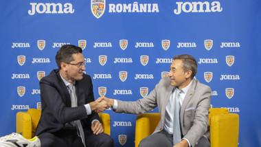 Joma recibe la visita de la Federación Rumana de Fútbol