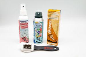 accesorios de Chiruca para la limpieza del calzado outdoor y travel