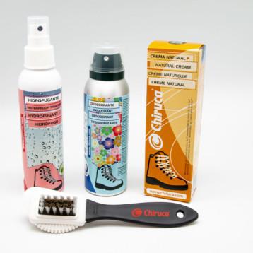 Chiruca lanza una línea de productos de limpieza del calzado outdoor