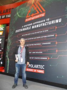 Jordi Marqués en el stand de Polartec en Ispo Munich