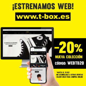 T-Box promociona su web de zapatillas y moda deportivas