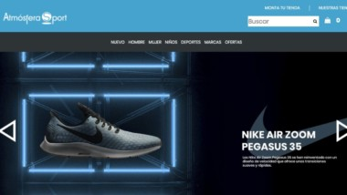 Atmósfera Sport refuerza su posicionamiento en el mercado con su nueva web