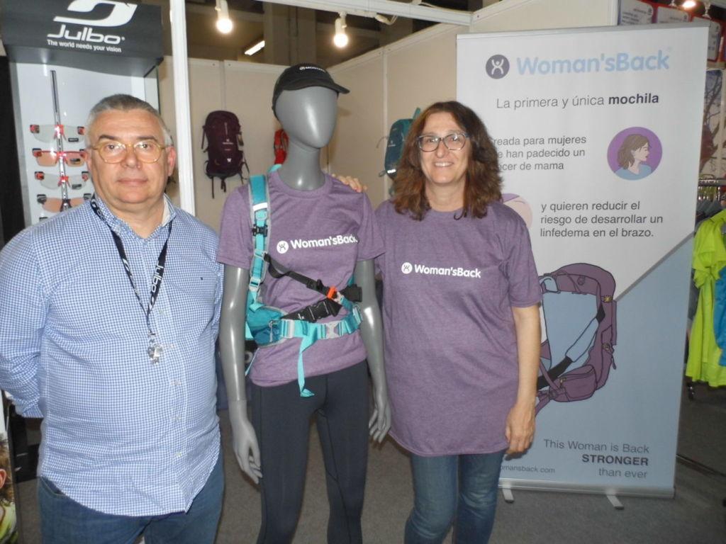 Se presenta en Expo Sports la mochila Woman'sBack para mujeres que han superado un cáncer de mama