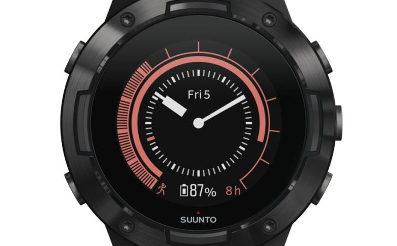 SS050299000 – SUUNTO 5 G1 ALL BLACK – Front View_Herowatchface-red