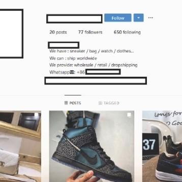 Dos marcas deportivas en el Top Ten de los falsificadores de moda en Instagram