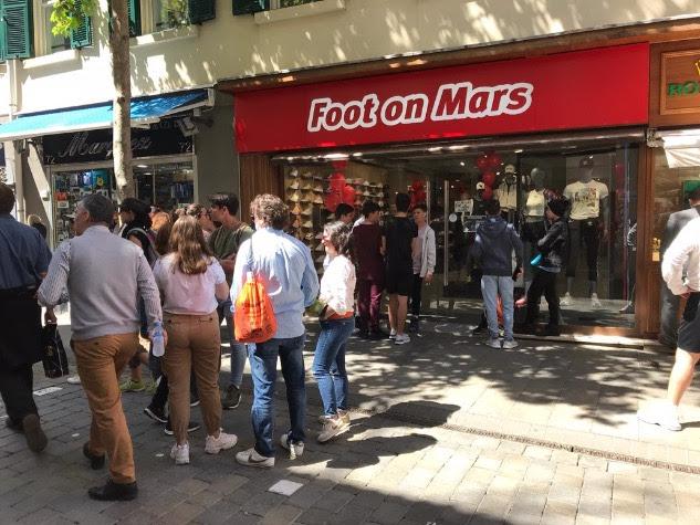 nueva tienda Foot on Mars en Gibraltar