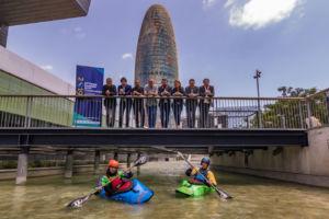 presentación del Mundial de kayak de Sort en Barcelona