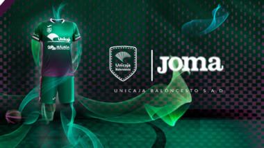 Joma presenta el diseño de las equipaciones del Unicaja de Málaga