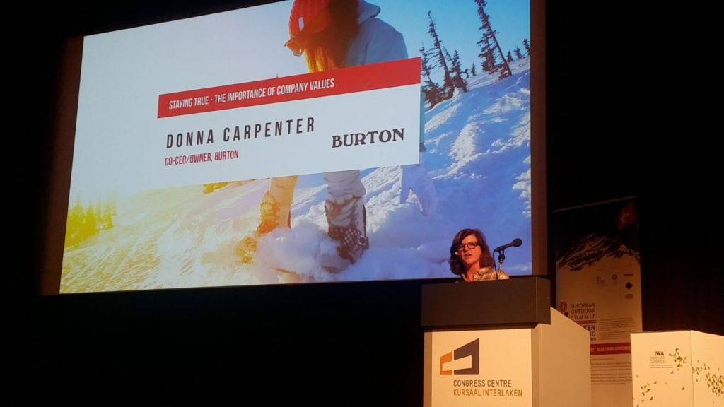 Donna Carpenter interviene en la European Outdoor Summit