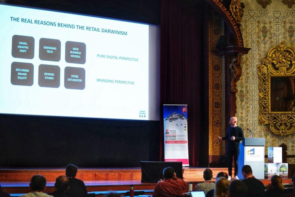 Magnus Ohlsson interviene en la European Outdoor Summit