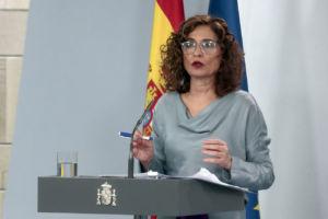 ministra María Jesus Montero interviene en rueda de prensa por crisis coronavirus