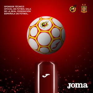 balón oficial de fútbol sala de Joma