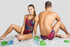 bañadores de Odeclas a partir de plástico reciclado