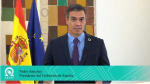 el presidente Pedro Sánchez interviene en el Congreso de la AEEPP
