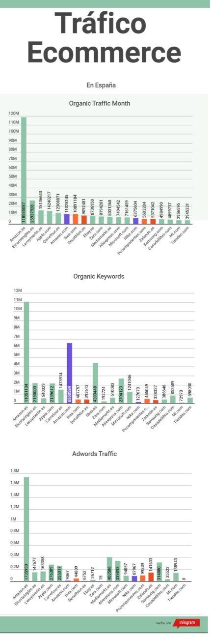 infografia sobre tráfico ecommerce
