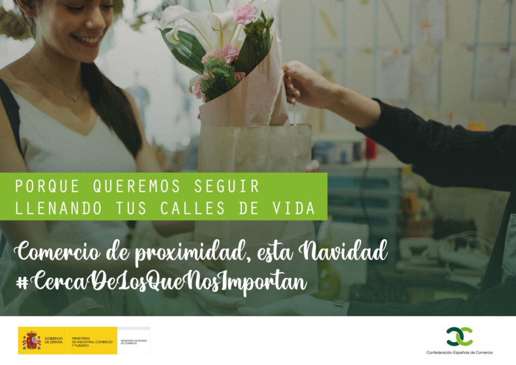 campaña de la Confederación Española de Comercio para fomentar el comercio de proximidad en Navidad