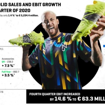 Puma equilibra las ventas con un potente cuarto trimestre