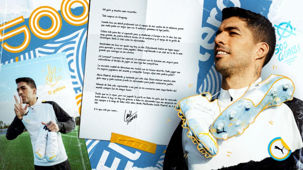 Luis Suárez y Puma celebran los 500 goles del delantero uruguayo donando medio millar de balones