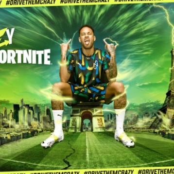 Puma la lía en Fortnite de la mano de Neymar