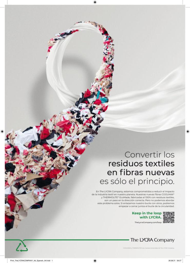 campaña sobre la circularidad y la sostenibilidad en la industria textil a cargo de Lycra