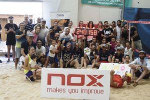 Nox bate un récord en beach tennis